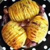 Ziemniaki Hasselback z czosnkiem