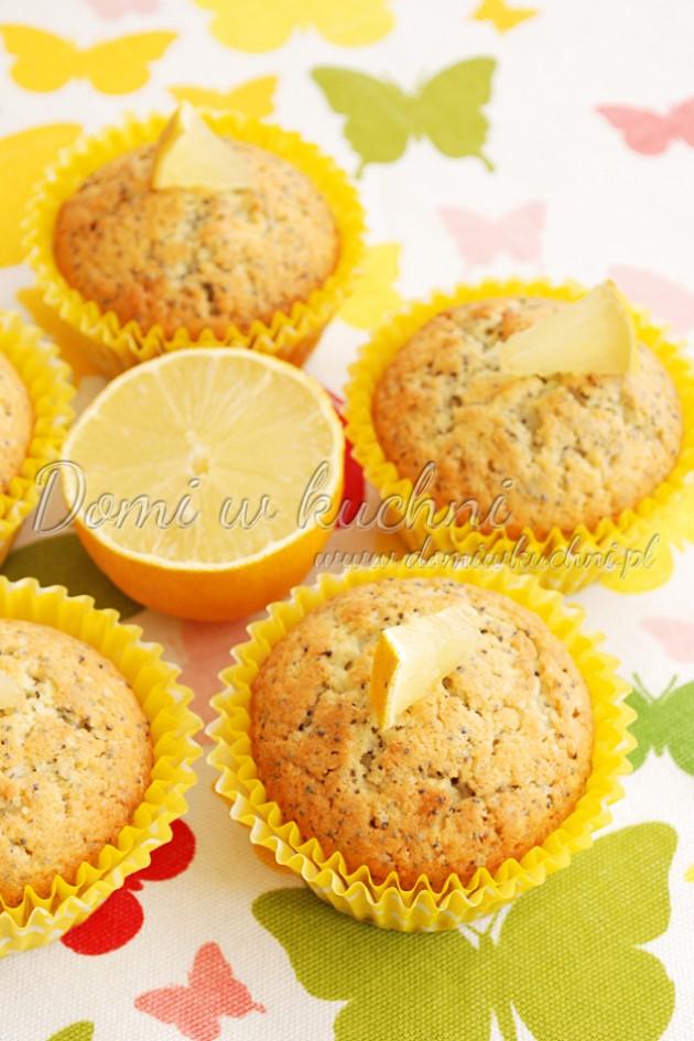 Muffiny cytrynowe z makiem