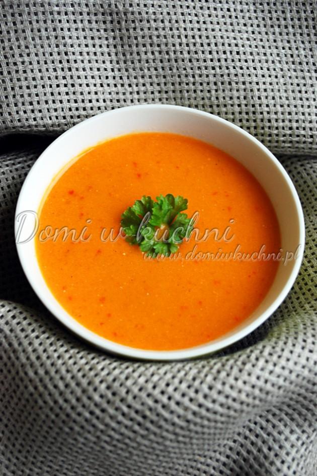 Paprykowo-pomidorowa zupa krem