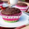 Czekoladowe muffiny z wiśniami