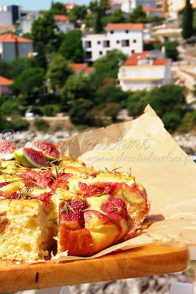 Ciasto z figami i rozmarynem