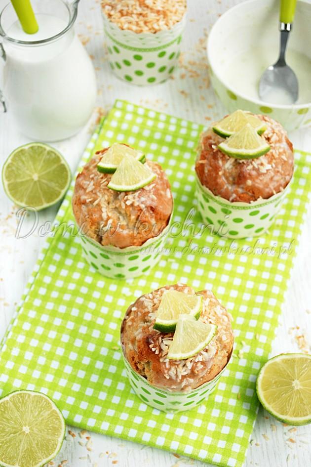Muffiny kokosowo-limonkowe
