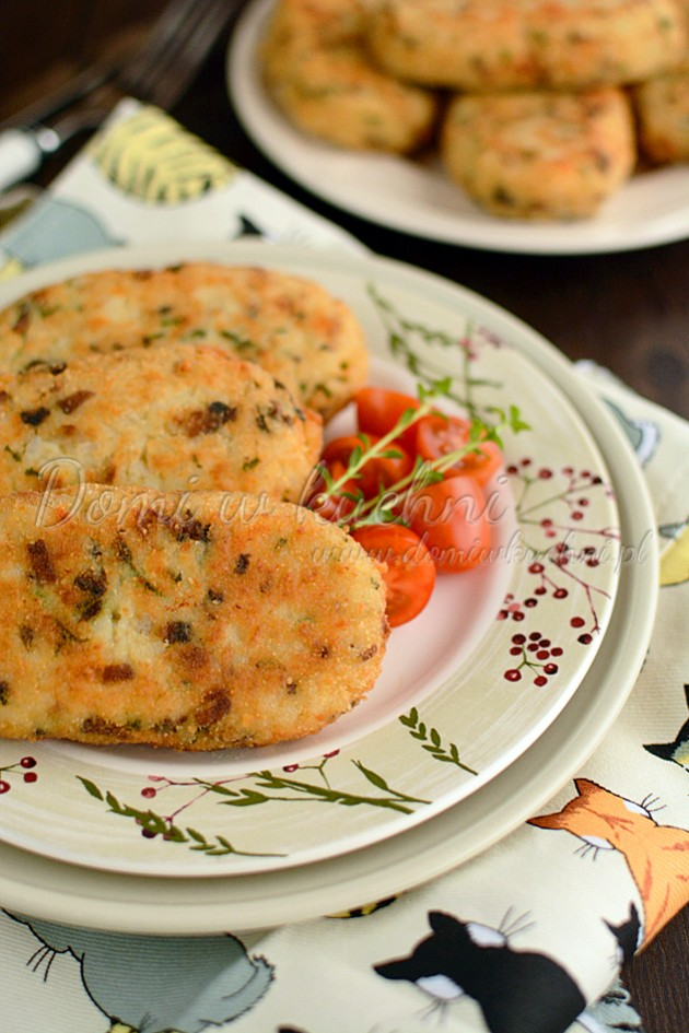 Krokiety ryżowe z pieczarkami i serem