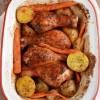 Kurczak pieczony w czerwonym winie