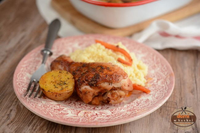 Kurczak Pieczony W Czerwonym Winie Domi W Kuchni
