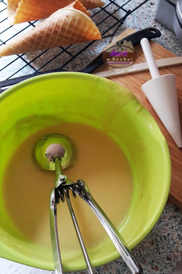 Waniliowe wafle do lodów