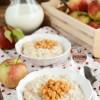 Jesienny ryż na mleku z jabłkami