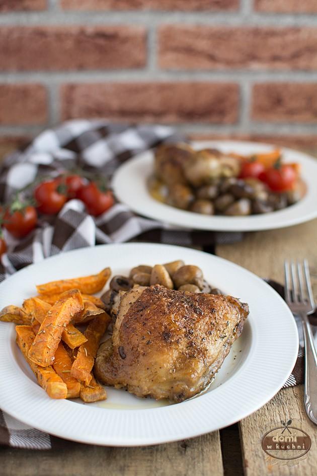 Kurczak Pieczony Z Pieczarkami Domi W Kuchni
