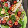 Sałatka z truskawkami i speckiem