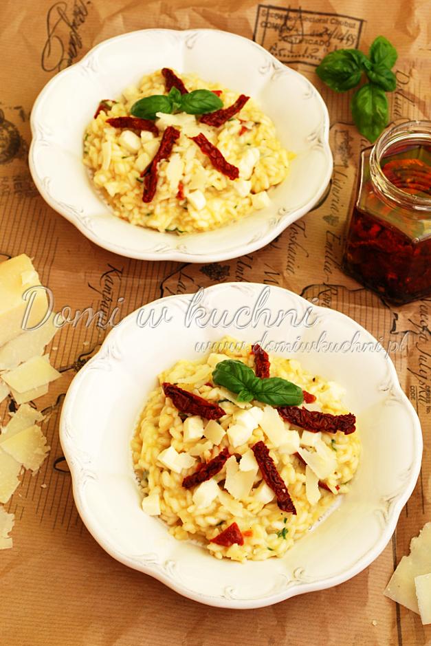 risotto z mozzarellą i susz pomidorami2