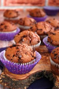 muffiny czekoladowe z powidłami1